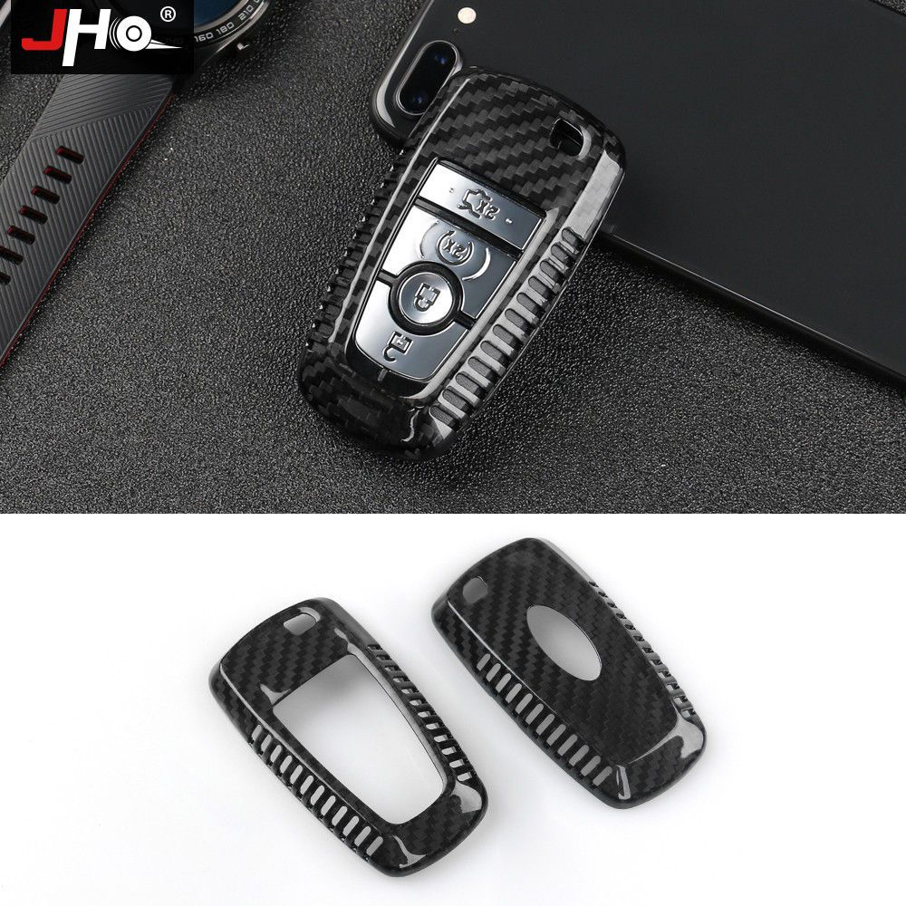 Real Carbon Fiber Remote Key Fob Shell Case For 2018 Ford Explorer