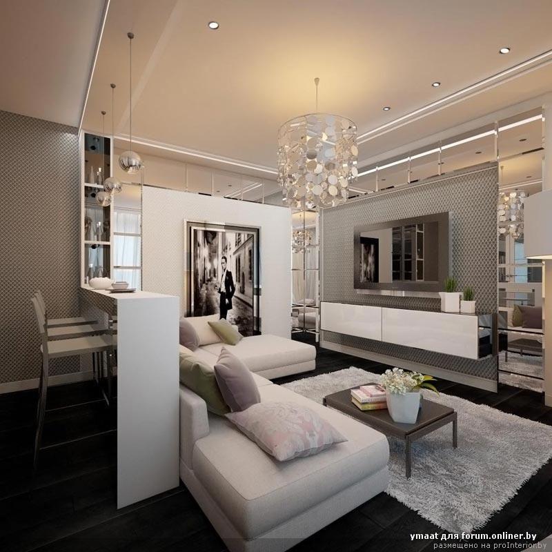 барная стойка за диваном в гостиной фото: 13 тыс ...
