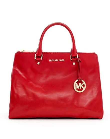 85a01a71180a MICHAEL Michael Kors Large Bedford Saffiano Dressy Tote Red   What I ...