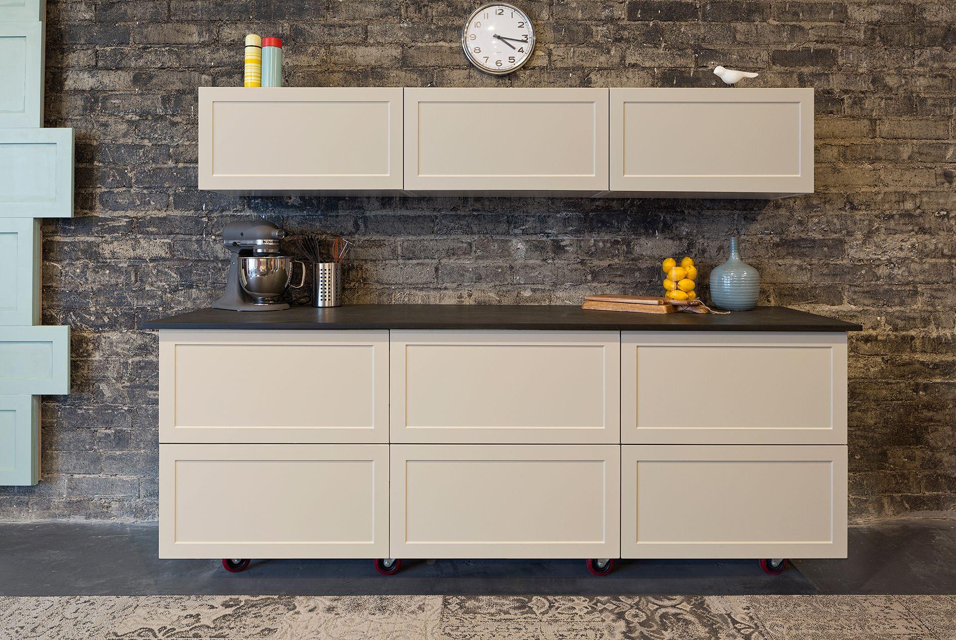 Semihandmade Supermatte Clay And White Shaker Ikea Kitchen