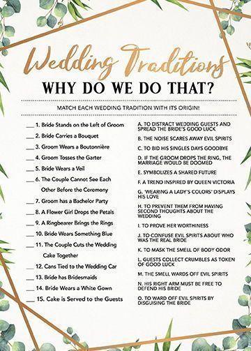 Wedding Traditions, Bridal Shower Games Printable, Bridal Shower Game Idea, Bridal Shower Instant Download, Wedding Game, Bridal Shower Game #bridalshowerdecorations