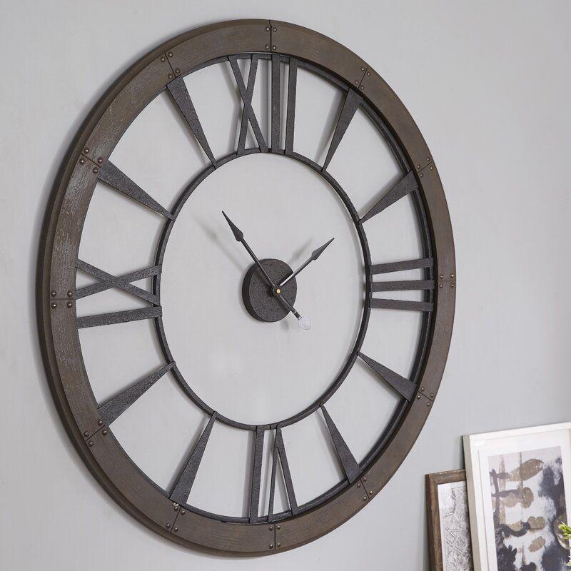 Oversized 60 Wall Clock In 2020 Oversized Wall Clock Big Wall Clocks Large Wall Clock