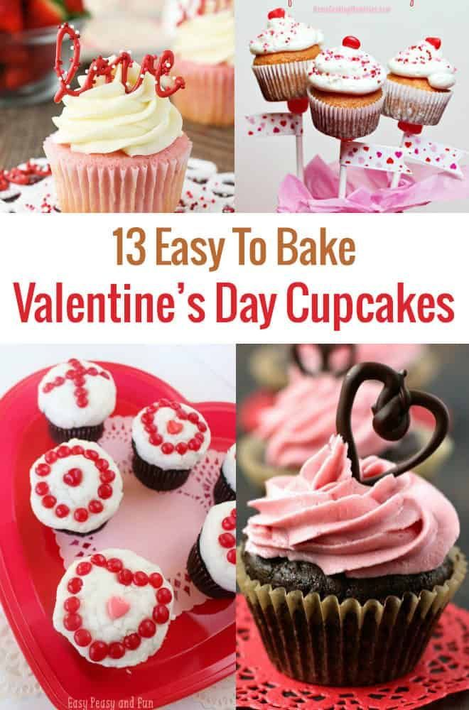 13 Easy To Make Valentine S Day Cupcakes Holidays January March