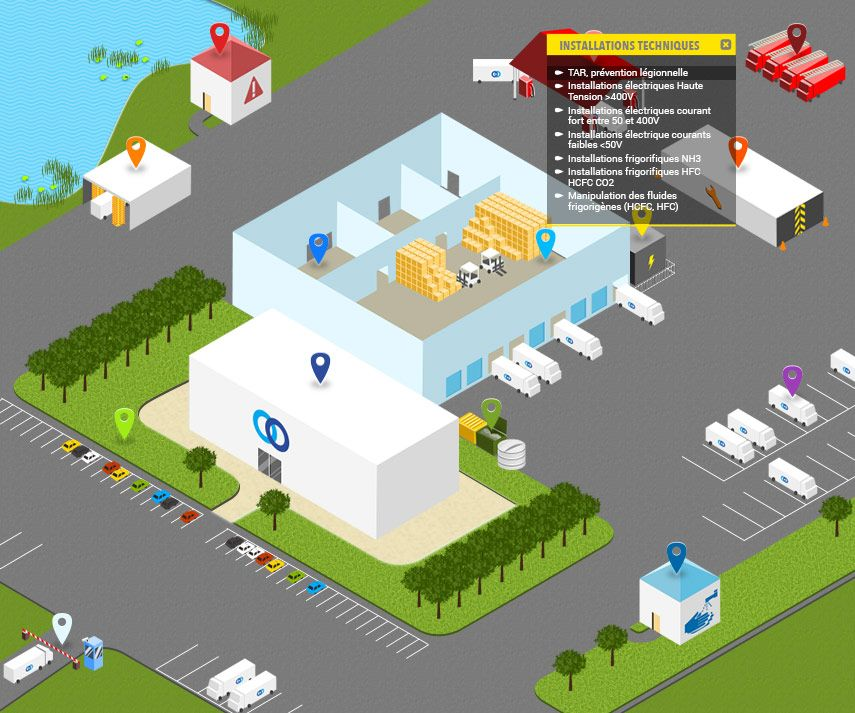 Cold storage warehouse logistic system digital map for Warehouse mapping software