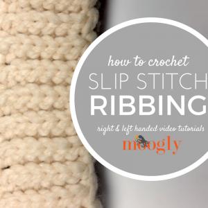 Slip Stitch Ribbing #slipstitch