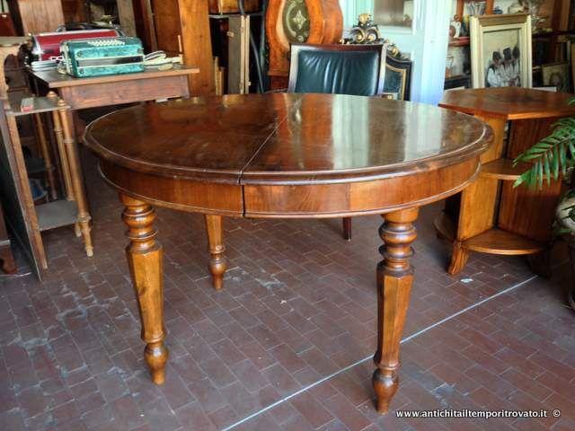 Tavolo ovale ~ Mobili antichi tavoli allungabili antico tavolo italiano in noce