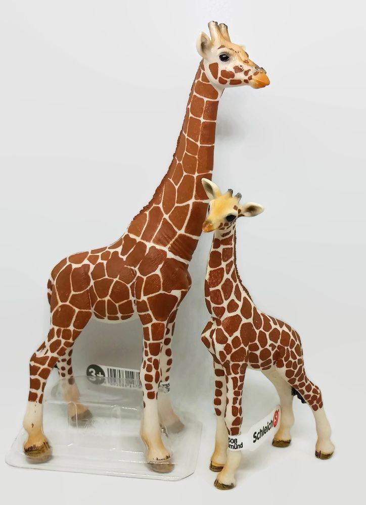 schleich female giraffe baby giraffe calf toy figure pretend play toy figure schleich odds. Black Bedroom Furniture Sets. Home Design Ideas