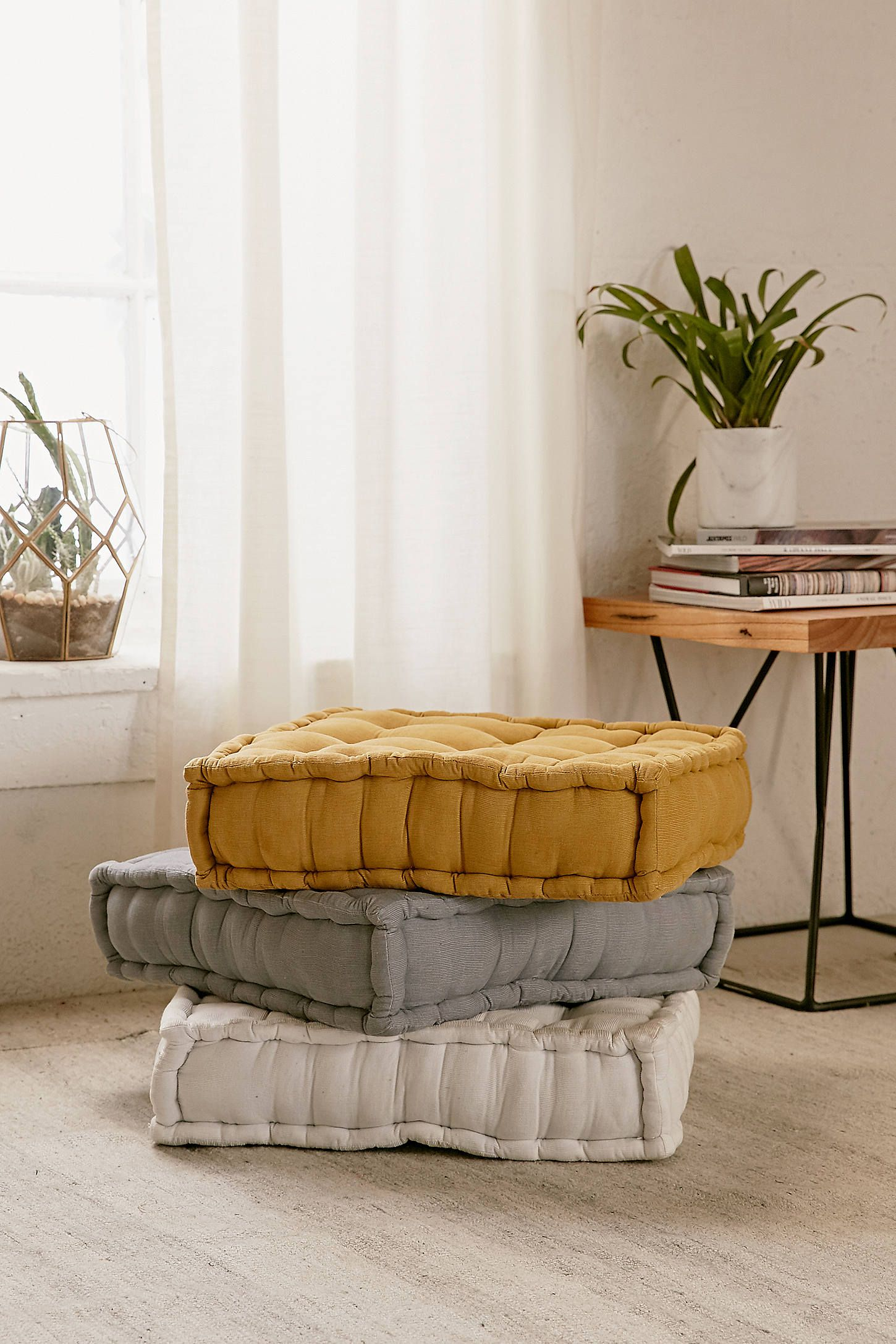 Tufted Corduroy Floor Pillow Floor Seating First Apartment