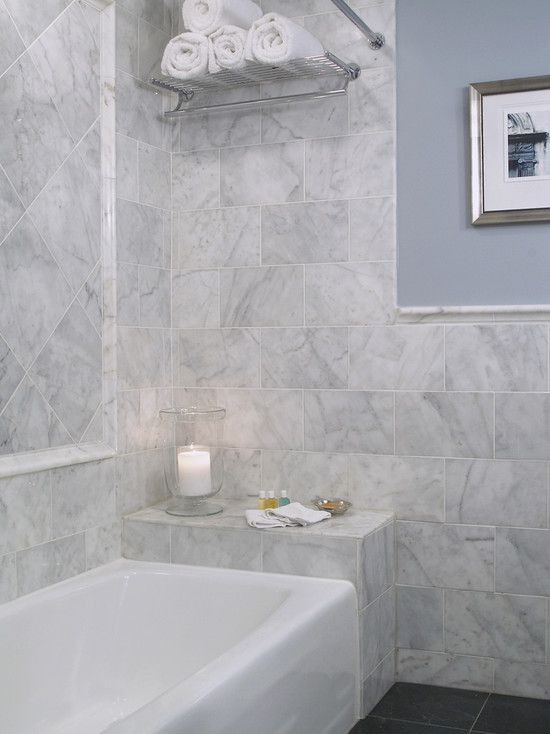 Eclectic +marble +tile +bathroom +diagonal Design, Pictures, Remodel