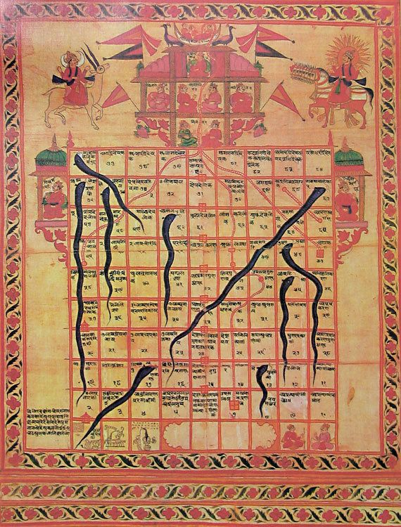 Snakes & Ladders or Chutes & Ladders the game appears in