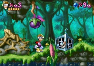 At first, Rayman was a hard platform game on PS1