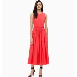Outlet – Calvin Klein Maxikleid aus Baumwoll-Popeline 40 – Sale Calvin KleinCalvin Klein