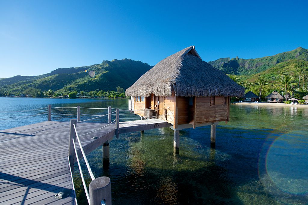 Manava Beach Resort Spa Hotel Moorea Overwater Bungalow