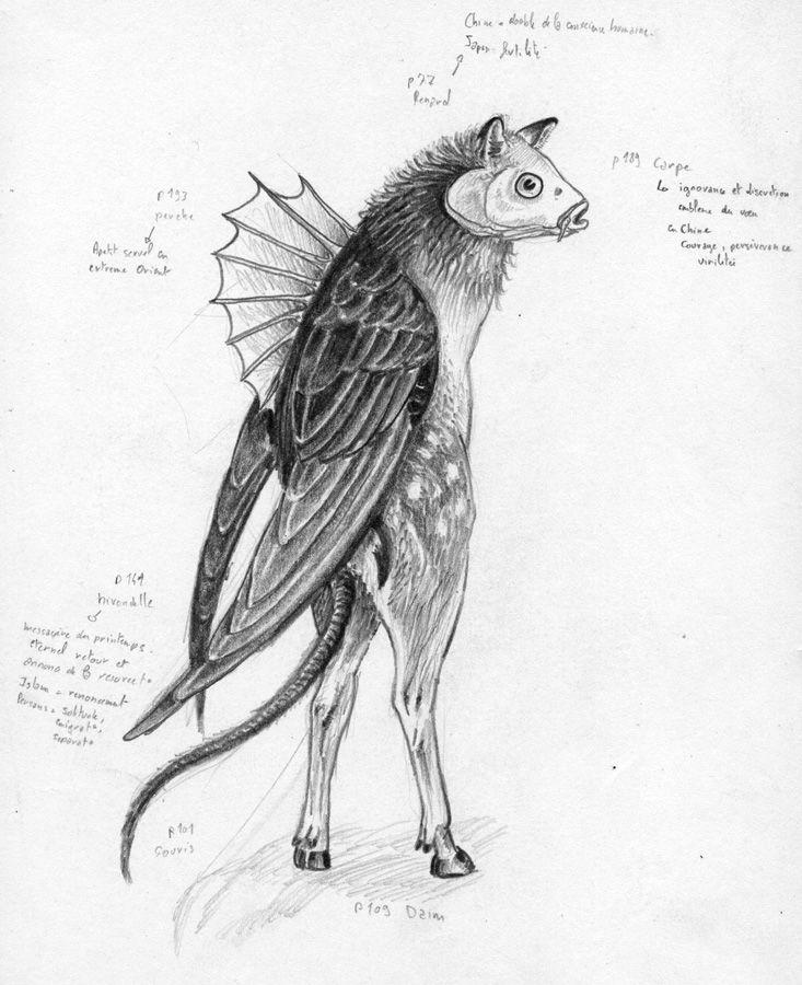 Dessin chim re 1 hybride en 2019 pinterest dessin - Dessin animaux fantastiques ...