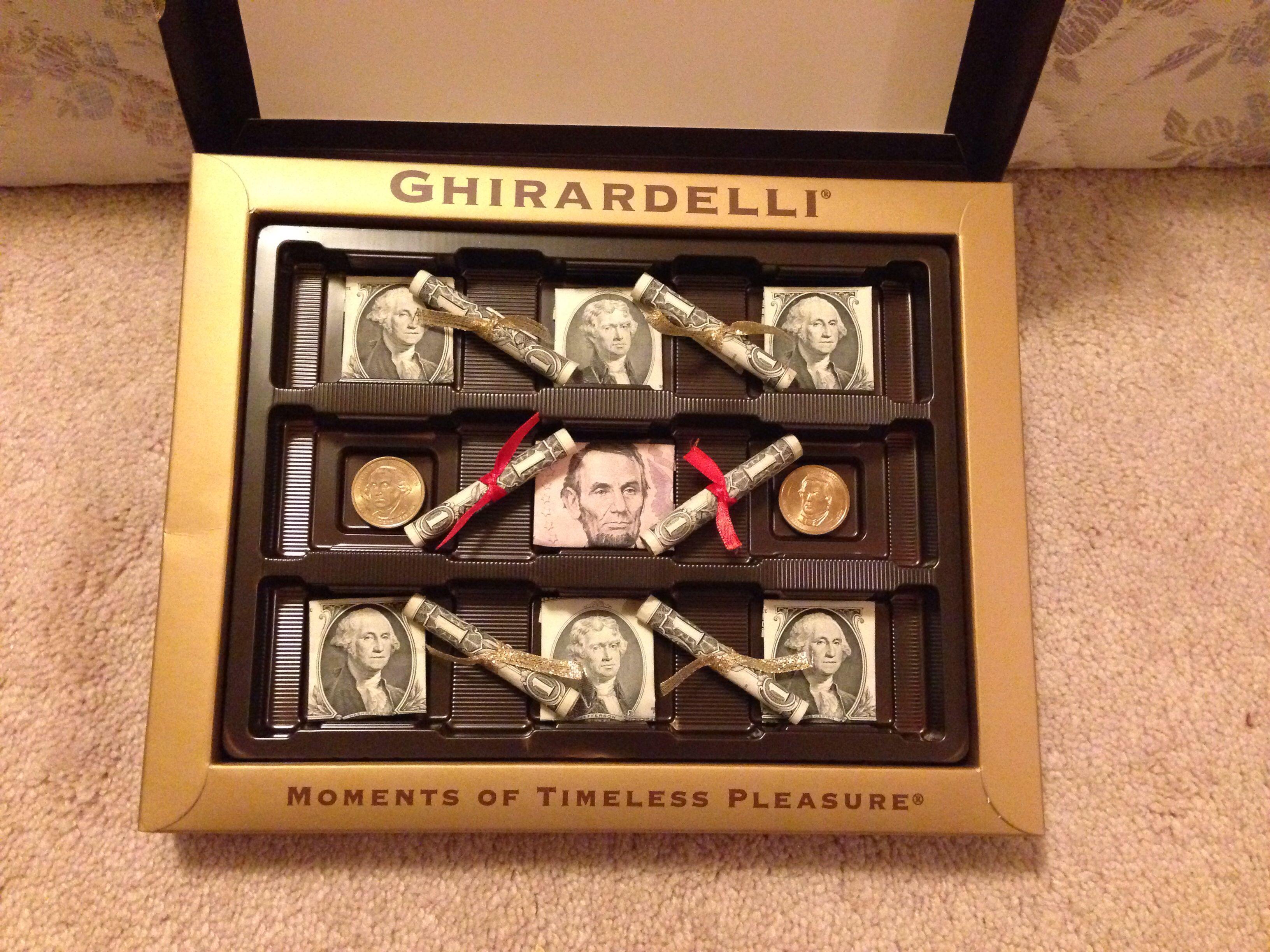 Graduation chocolate money box chocolate money