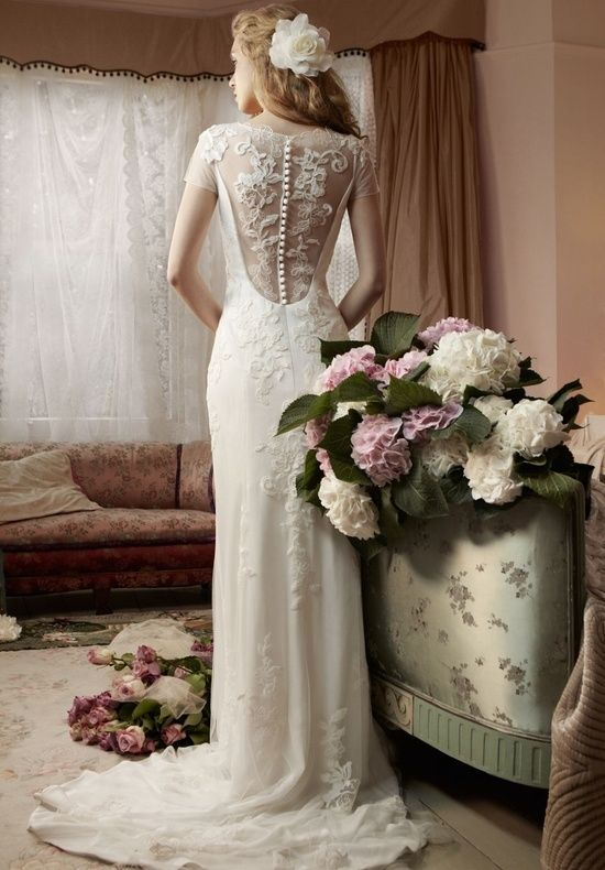 Lace Vintage Wedding Dress | Special Back Design by Whiteazalea