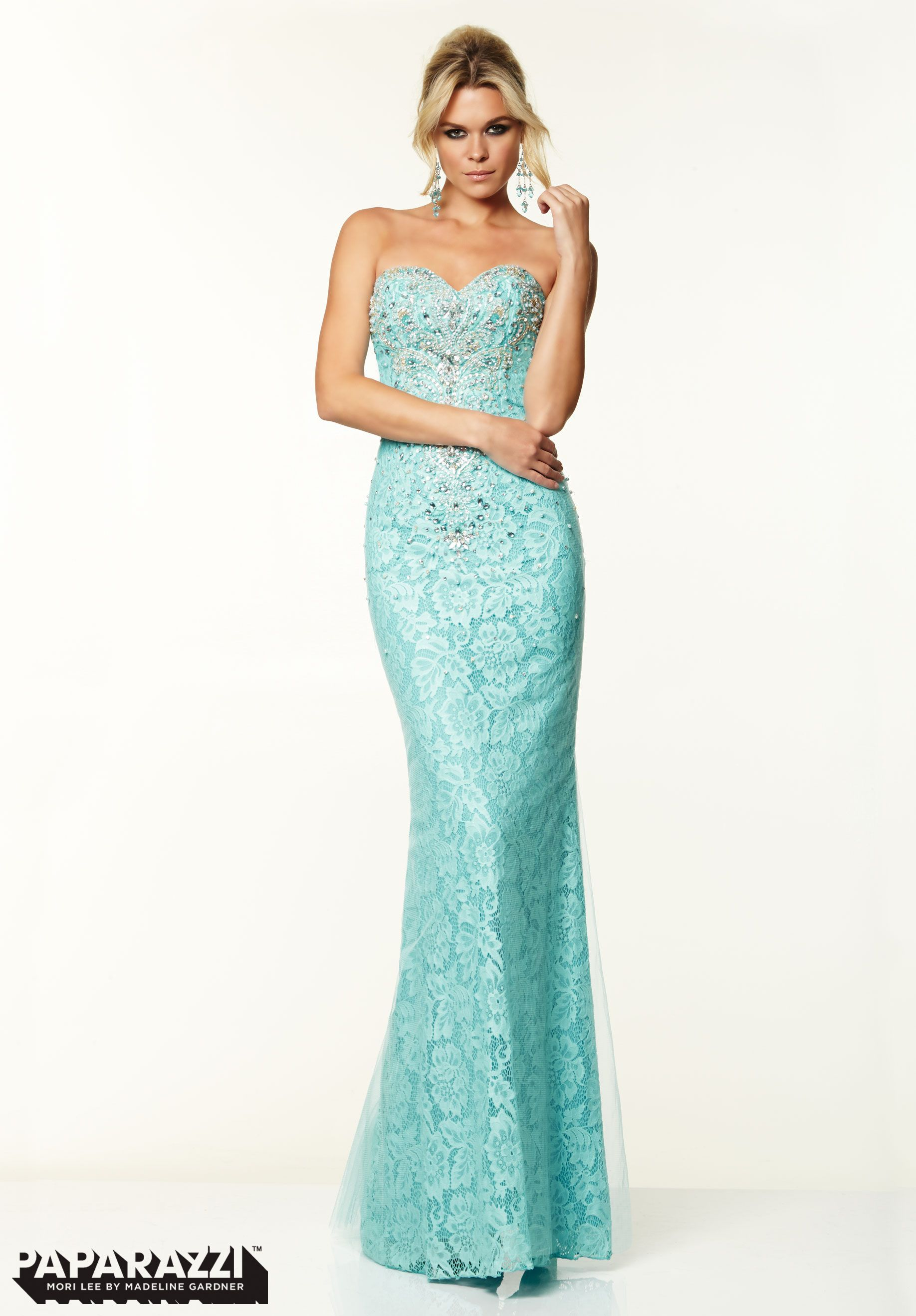 BD73 PAPARAZZI 97012 SZ 20 AQUA $448 #2253 FORMAL PAGEANT DRESS GOWN ...