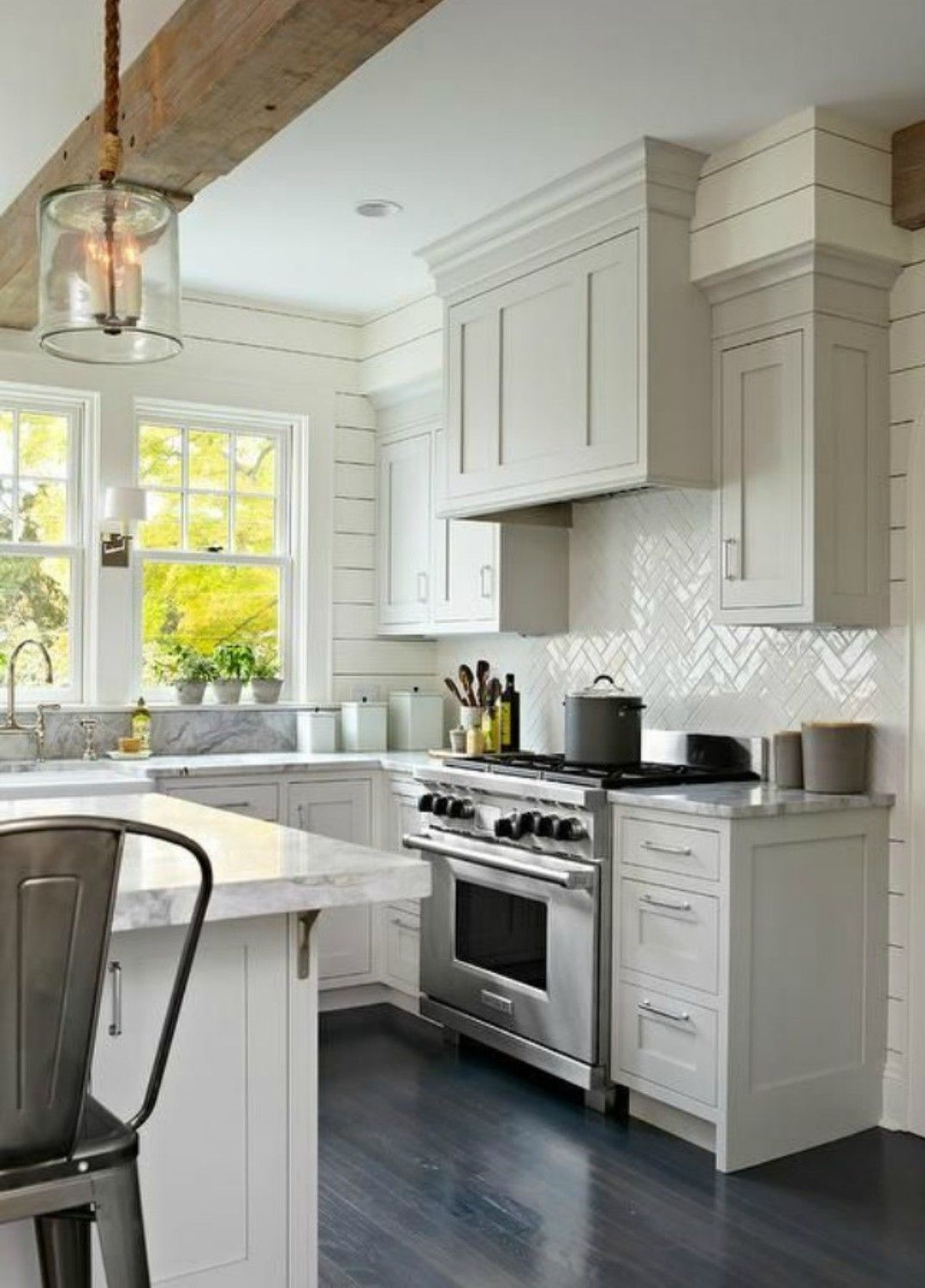 Boxing In Top Of Cabinets To The Ceiling Kitchen Remodel Small Farmhouse Kitchen Design Kitchen Design