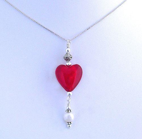 Sweetheart Pendant Necklace   by Alison Kelley Designs