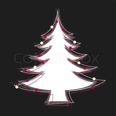 Stock vector of 'Abstract christmas tree on black background'