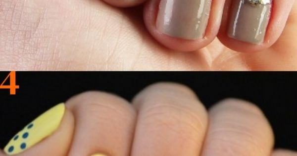 Great Nails: Love the Glitter! Simple and easy nail art designs.