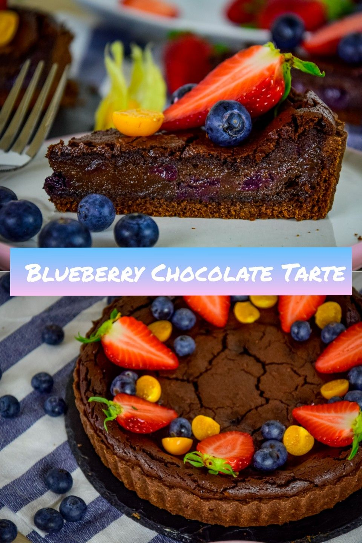 Bluebeery Chocolate Tarte Schokoladen Tarte Mit Fruchten Schokoladen Tarte Schokotarte Pralinen