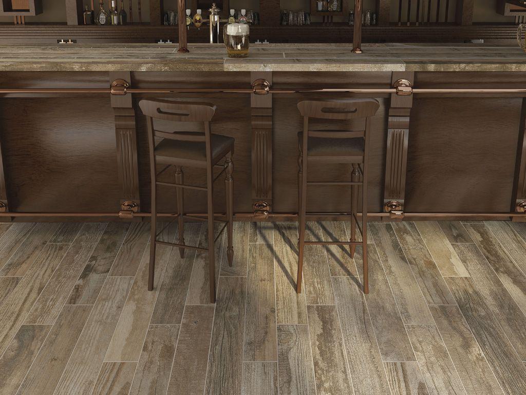 Salvage Vintage Floor Tiles With Wood Effect Ceramica