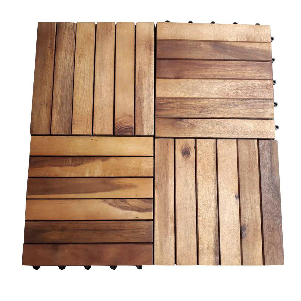 AntiSlip Wood Decking Tiles 30x30cm Wooden Garden Patio Decking Floor is part of garden Decking Tiles -