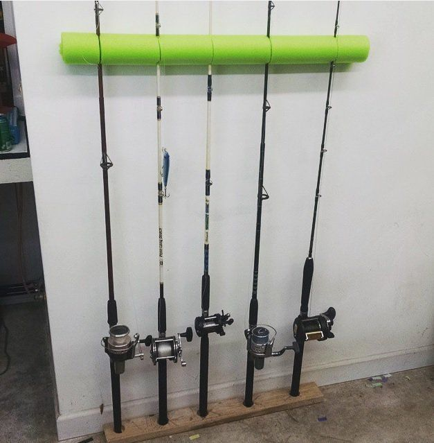 Awesome diy garage organization ideas noodle noodle for Fishing rod storage ideas