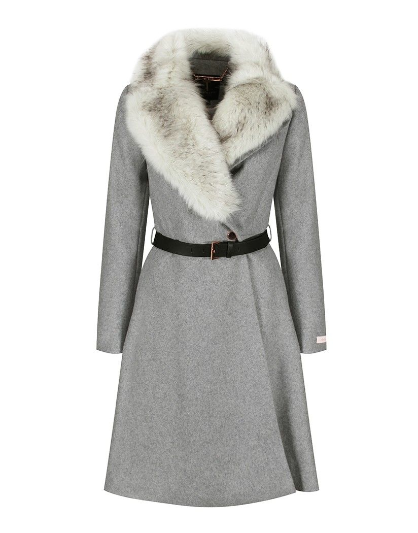 bf5002f006f6 ... close to describing this new sheerling collar coat by Ted Baker. The  Narniaa is without a doubt this season s must have with its Faux Fur Collar  Skirted ...
