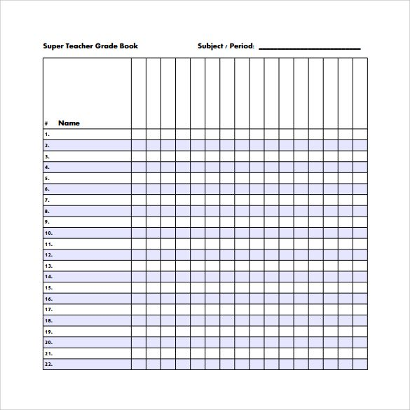 picture relating to Printable Gradebook Pages referred to as Pattern Gradebook Template - 7+ Free of charge Information within PDF, Phrase