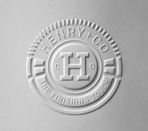 HENRY & CO. // EMBOSSING PLATES