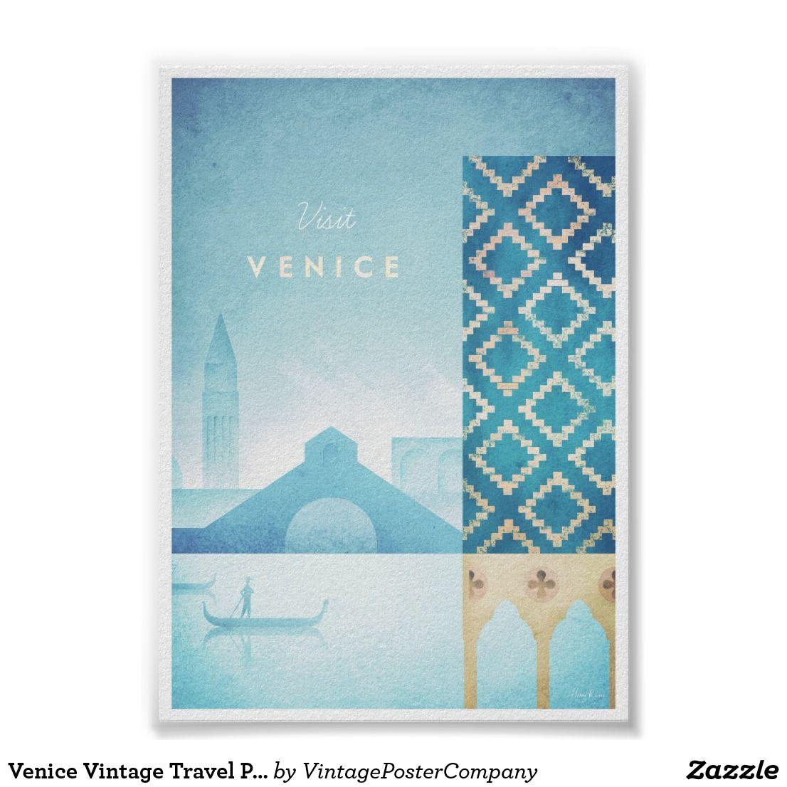 Photo of Venice Vintage Travel Poster | Zazzle.com