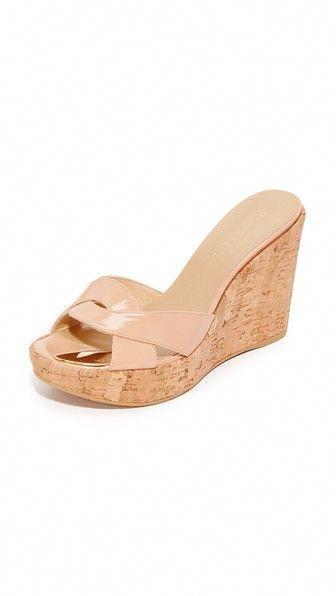 833e4b19927 STUART WEITZMAN Over It Wedge Slides.  stuartweitzman  shoes  slides ...
