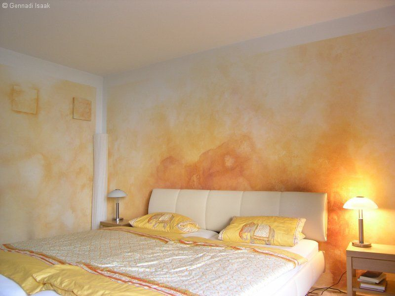 Wandgestaltung Schlafzimmer Zimmerbemalung Pinterest - schlafzimmer wandgestaltung beispiele