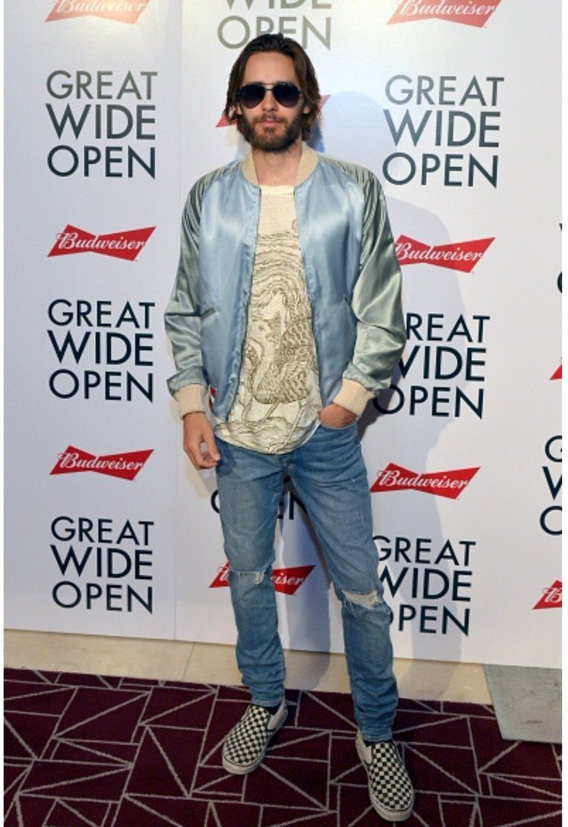 Great Wide Open 19 07 2016 Jackets Men Fashion Jared Leto Menswear