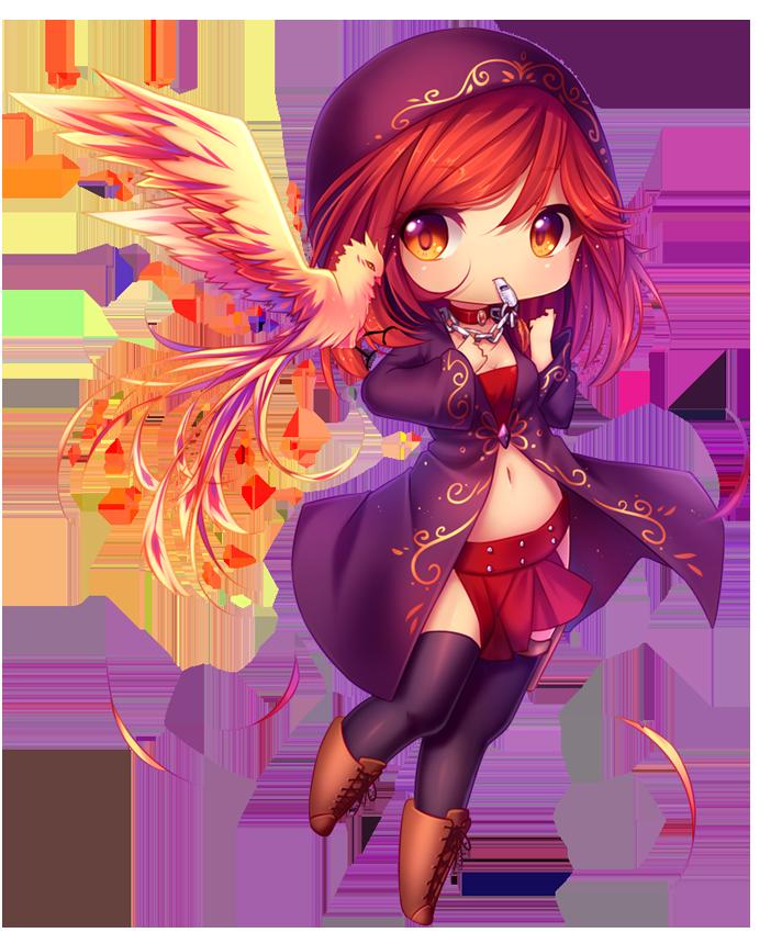 Commission Fire Spirit by HyannaNatsu on DeviantArt