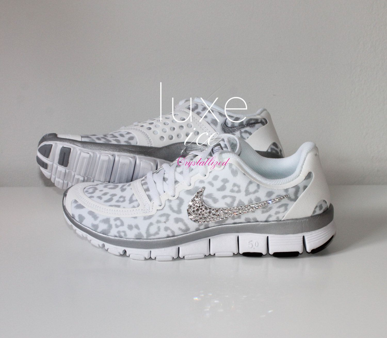 nike run free 5.0 v4 shoes w/swarovski crystals cheetah girls