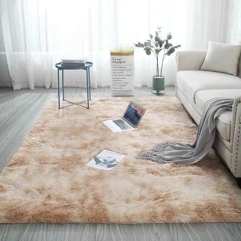 Beige Fluffy Faux Fur Luxury Rug Unilovers Living Room Carpet Soft Carpet Bedroom Carpet