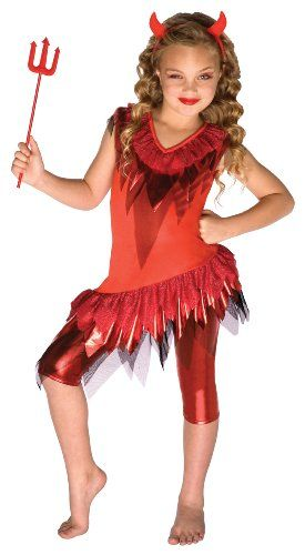 girls halloween costumes red devil child costume size small