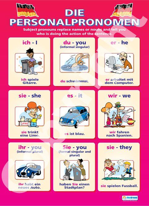 personalpronomen deutsch englisch grammatik