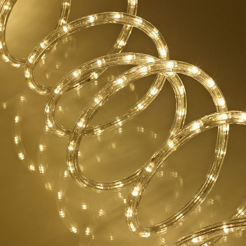 8m Warm White LED Rope Light, Indoor & Outdoor Use | Rope lighting ...