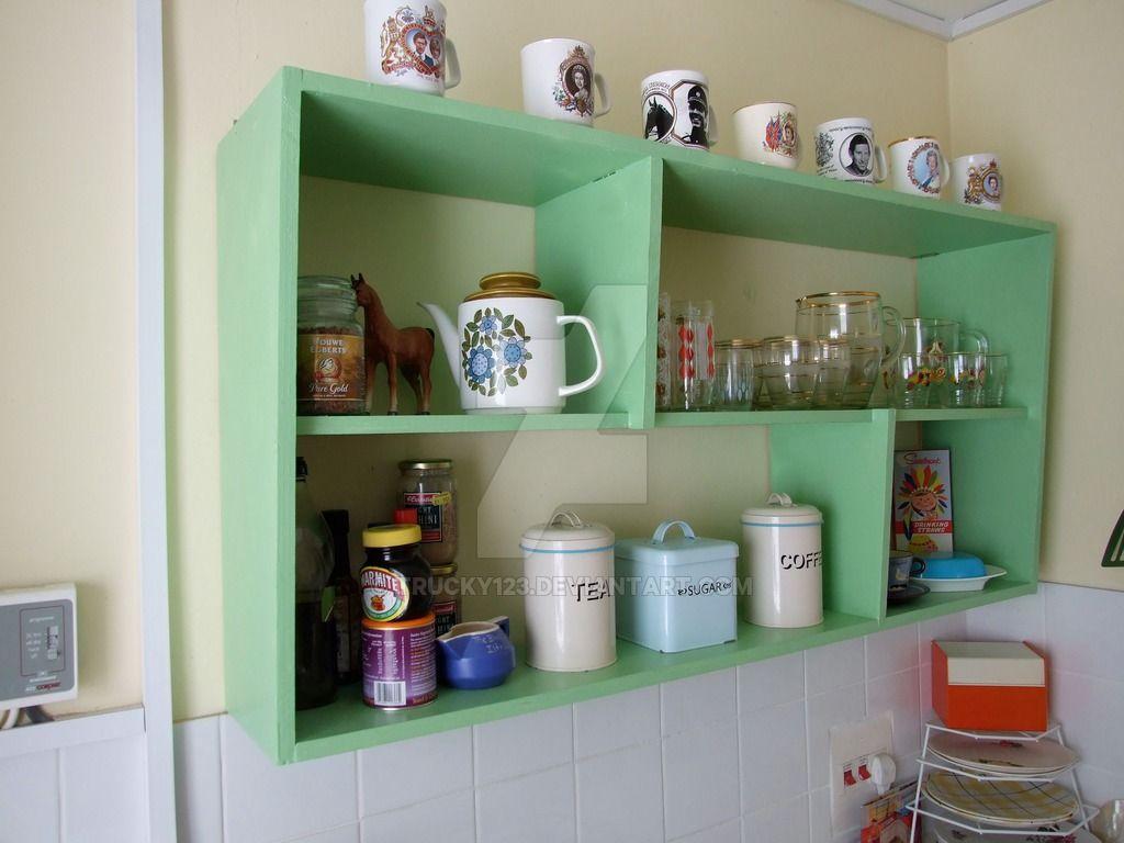 Simple 1950u0027s Style Kitchen Shelves By Trucky123.deviantart.com On  @DeviantArt
