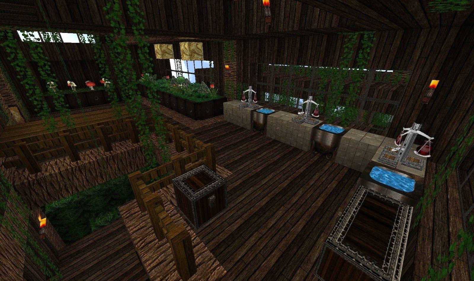Alchemy Lab Minecraft Google Search Minecraft Pinterest
