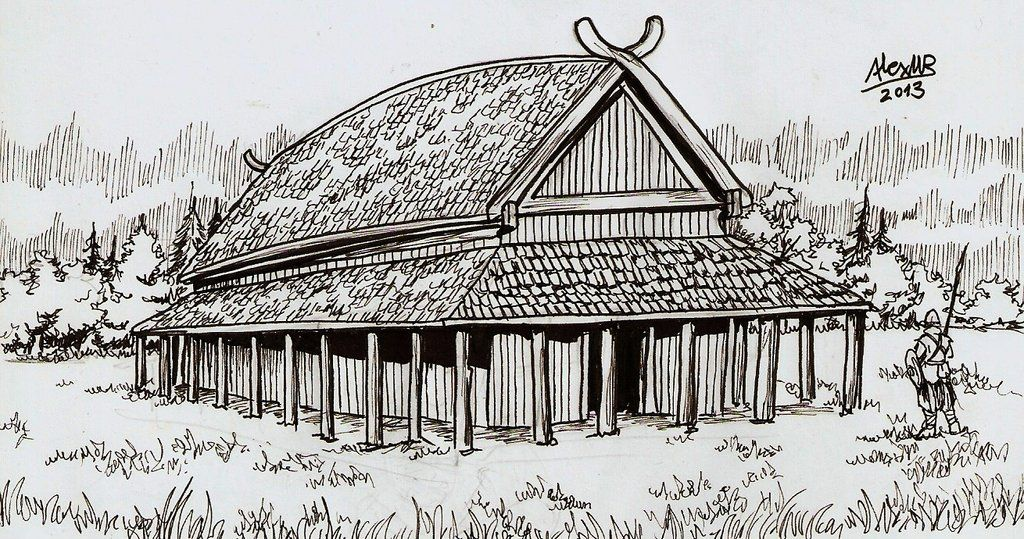 How Large Is A Norse Longhouse Google Search Viking Longhouses