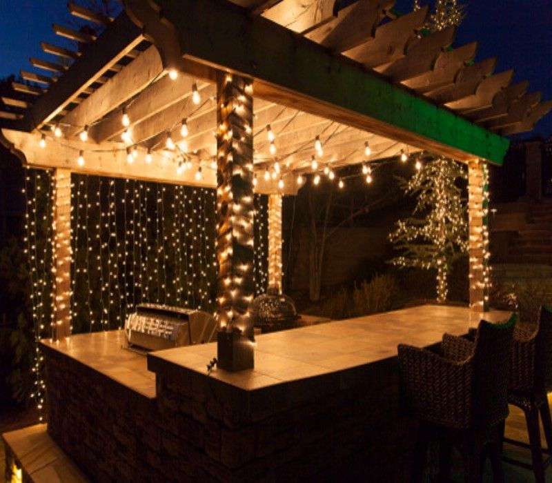 Patio Pergola And Deck Lighting Ideas And Pictures: Decorate Your Pergola Gazebo On This Christmas