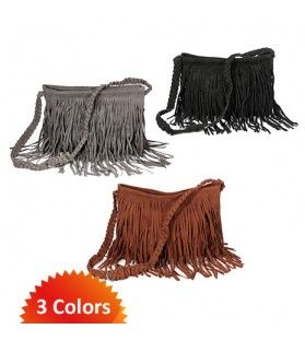 Tassel Fringe Messenger Bag - Large Tote Size Vintage 60's style bags in 3 different colors now 59% Off! Clearance.co #purses #bags #messenger bag #60's #vintage #retro