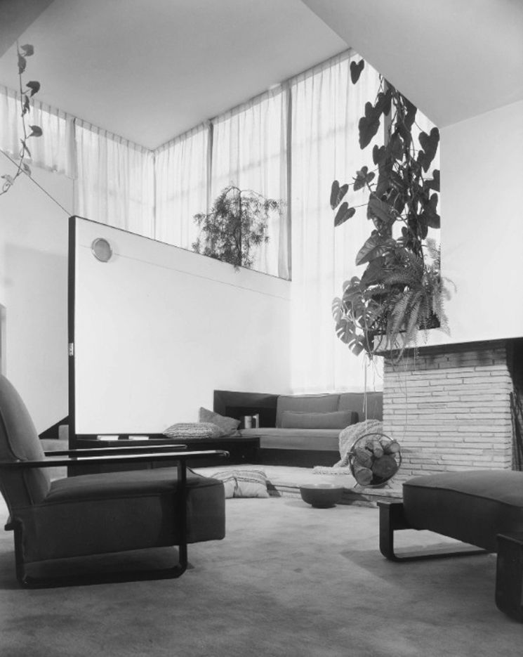 Lovell House Interior Los Angeles Calif Richard Neutra 1892