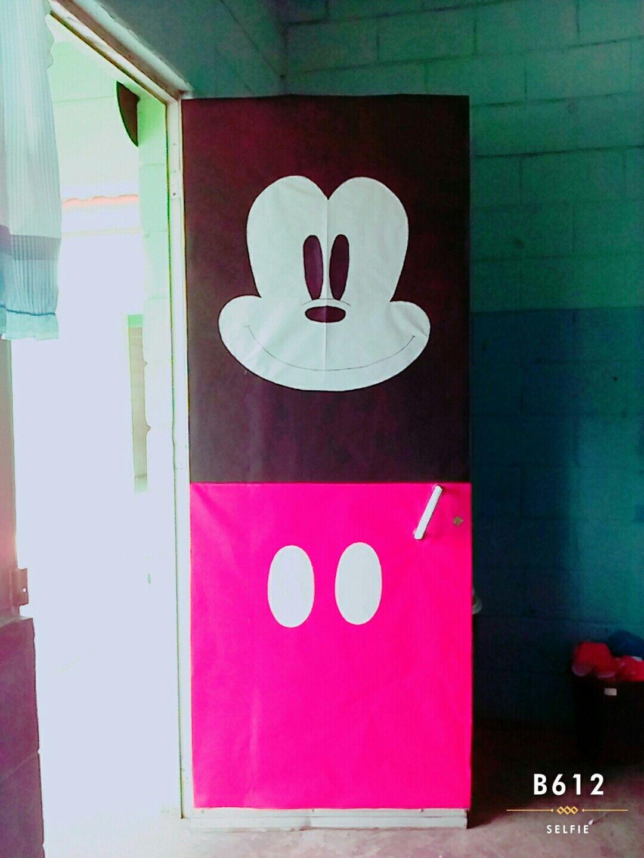 Puerta de Mickey Mouse | Puertas Decoradas y Decoración del Aula ...