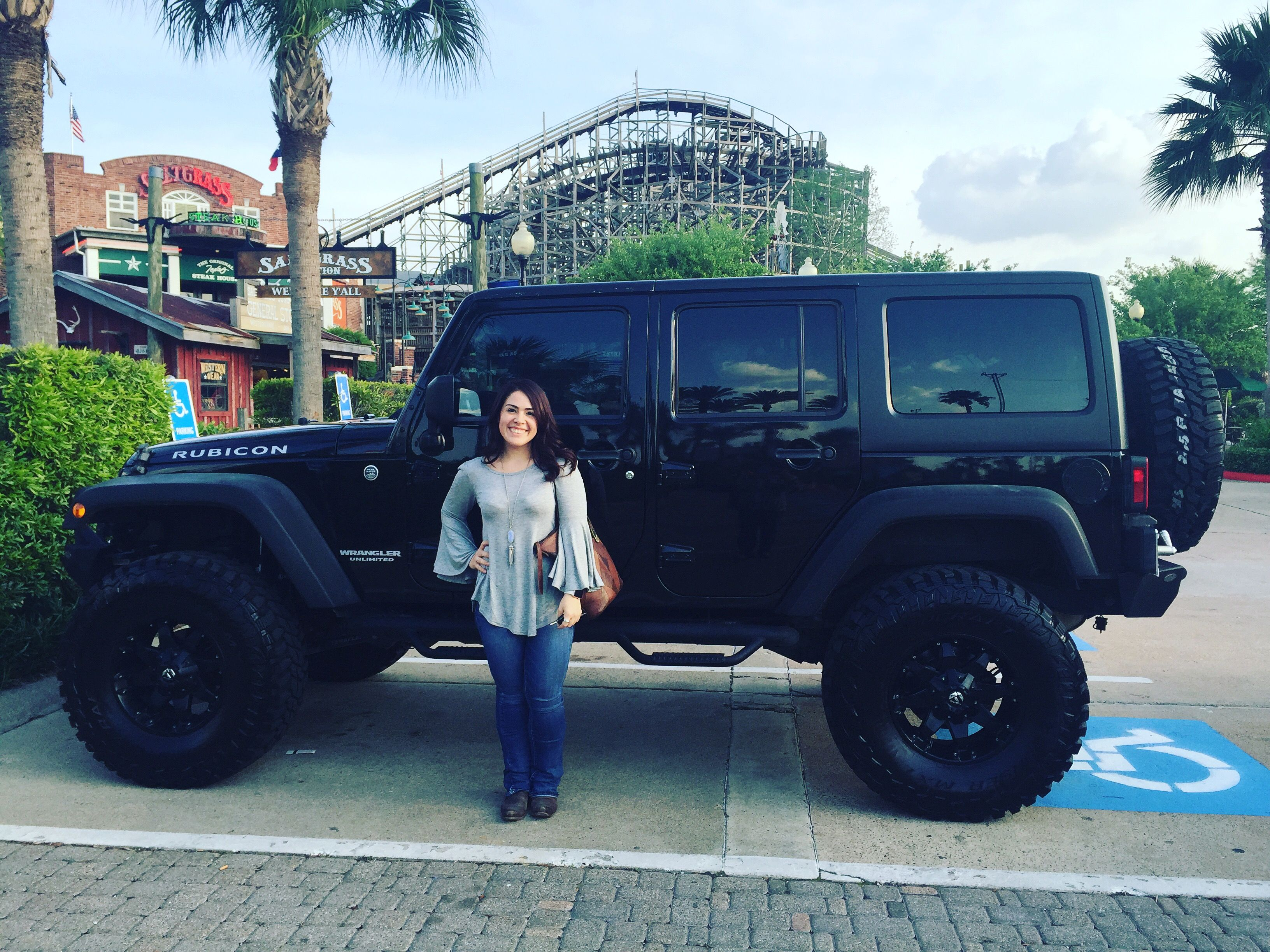 "Jeep Wrangler Rubicon with 37"" tires on a 4"" lift 